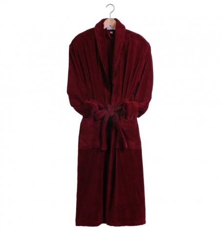 Baron Claret Plush Dressing Gown - Sale Sizes