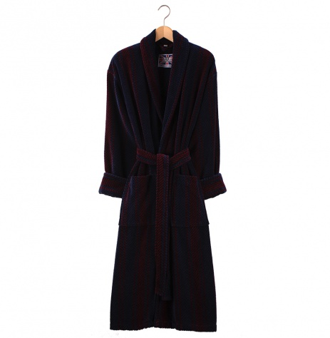 Bown Dressing Gown - Arbroath Velours Stripe