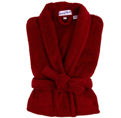 Bown Men's Terry Dressing Gown Burgundy - Sale Sizes