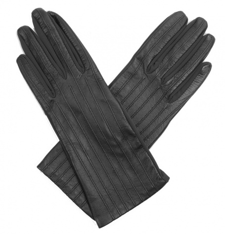 Dents Olivia Ladies Stretch Black Leather Gloves