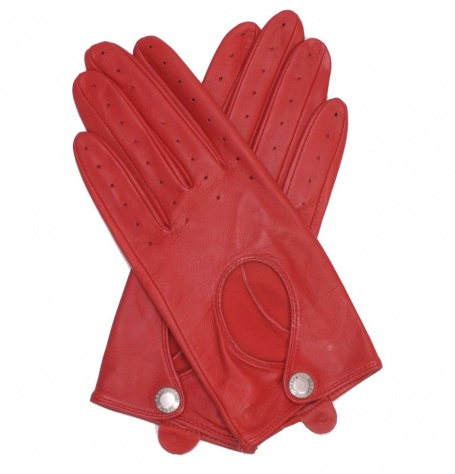 Dents Ladies Red Driving Gloves