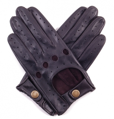 All Black Nappa Leather Driving Glove
