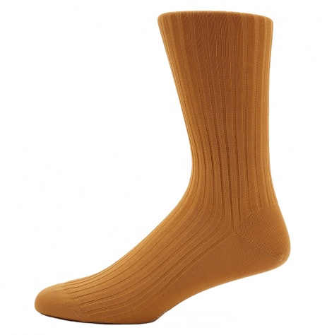 Dancys Ribbed Cotton Socks - Norfolk Mustard