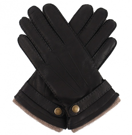 Dents Gloucester Men's Deerskin Gloves - Black