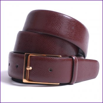 Tan Embossed Leather Belt by Dents