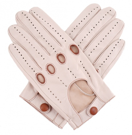 Tom Dick and Harry Men's Classic Driving Gloves - Beige