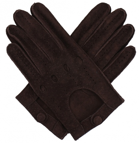 Men's Carpincho Driving Gloves - Brown
