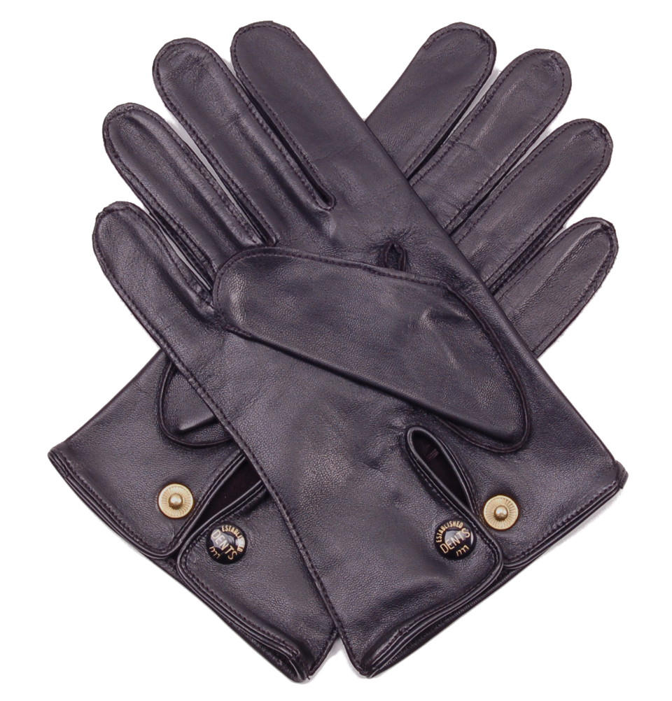 Mens gloves for driving - Men S Black Leather Professional Driving Gloves By Dents