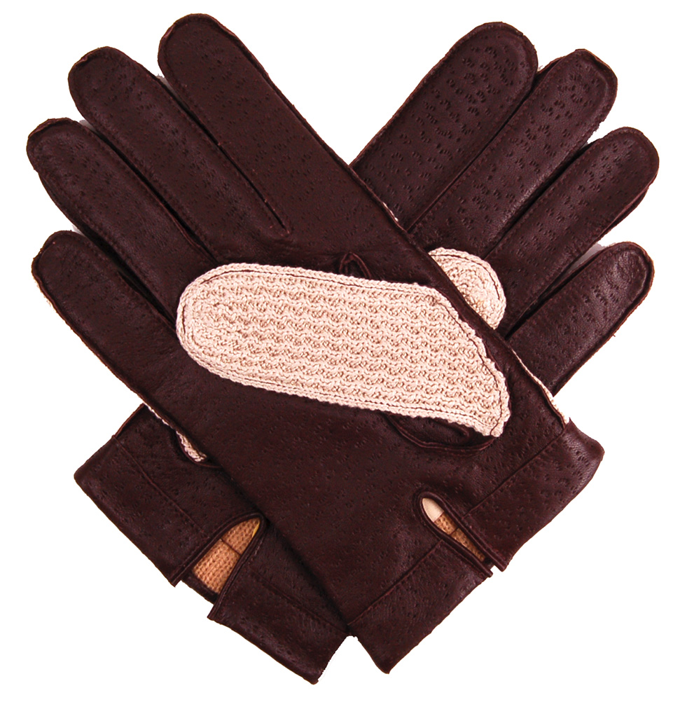 Driving gloves winter - Dents Leather Cotton Crochet Lined Men S Driving Gloves