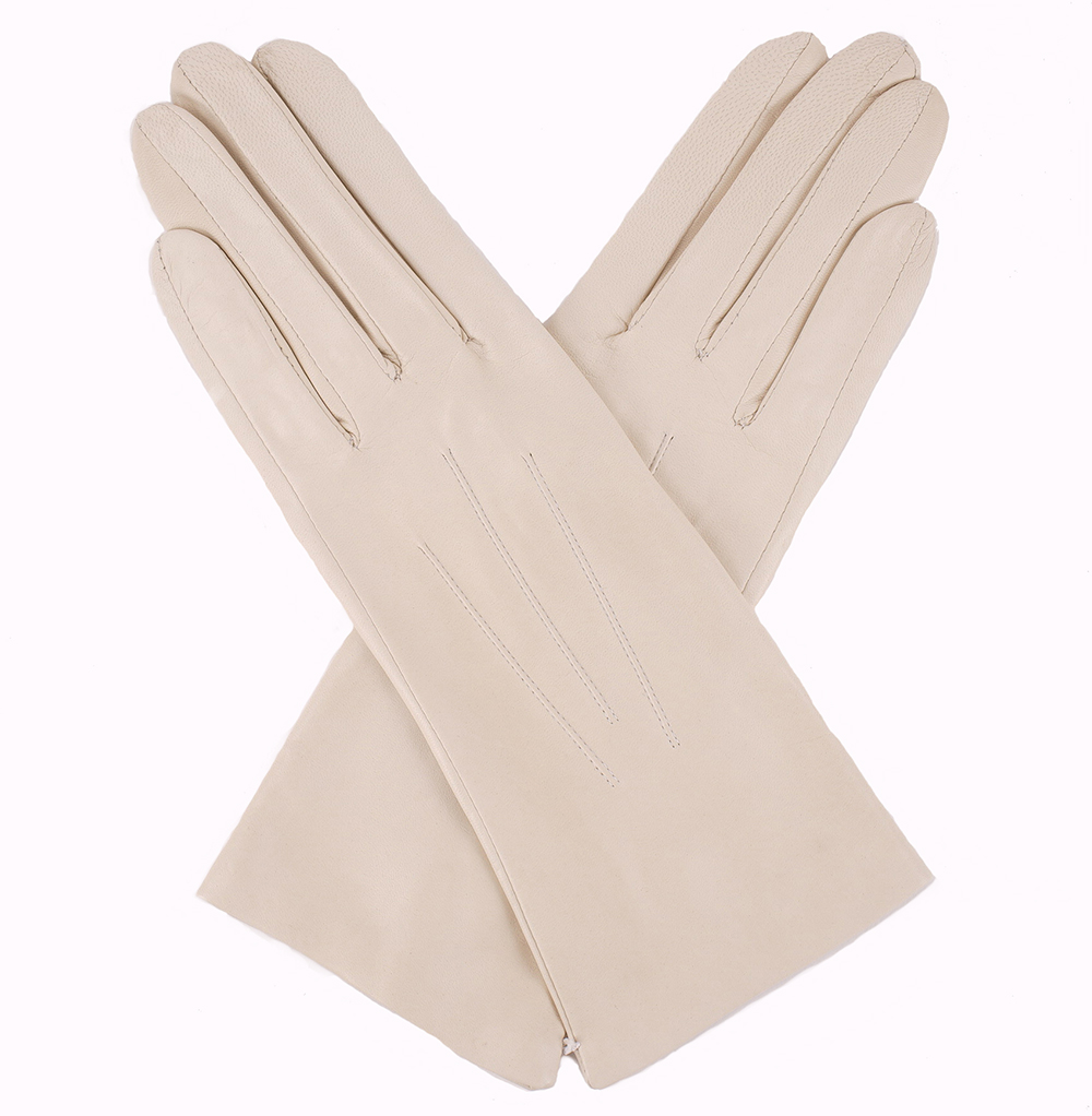 Pittards ladies leather gloves - Dents Ladies Silk Lined Leather Gloves Parchment