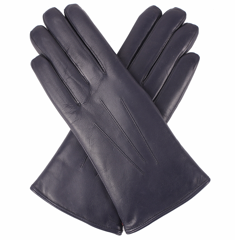 Pittards ladies leather gloves - Dents Ladies Fur Lined Leather Gloves Navy