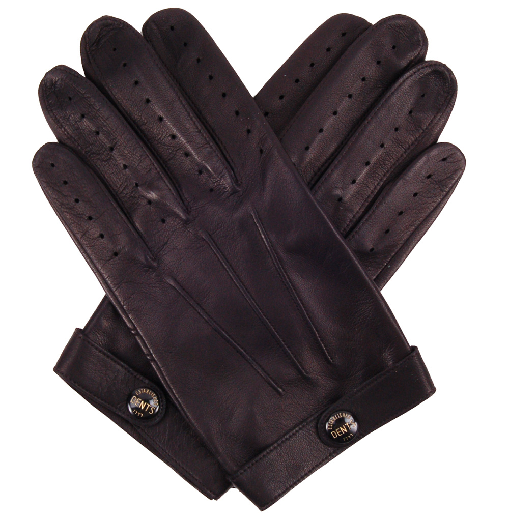 Leather driving gloves dents - Spectre Driving Gloves Black
