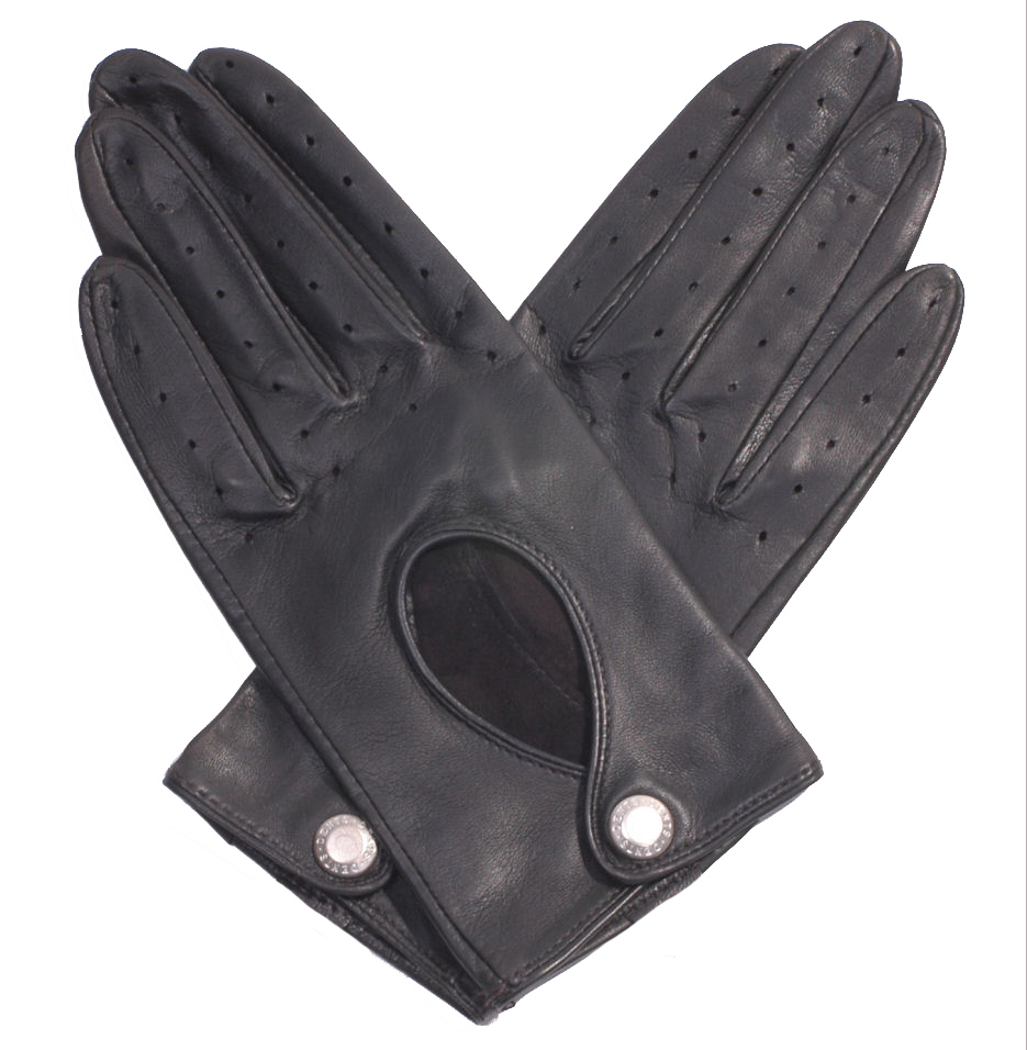 Black leather driving gloves - Dents Ladies Black Leather Driving Gloves