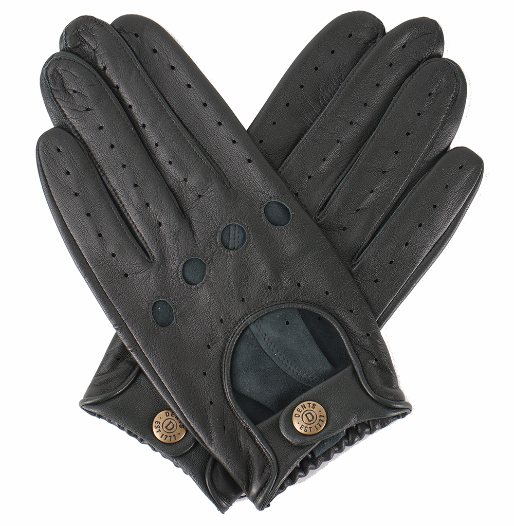 Leather driving gloves dents - Dents Delta Driving Gloves British Racing Green