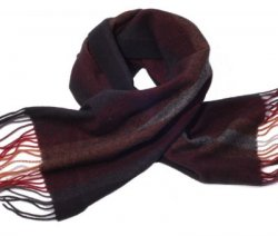 Black & Tan Wide Stripe Scarf
