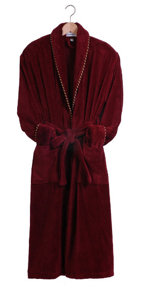 Earl Claret Plush Dressing Gown - Sale Sizes
