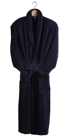 Navy Terry Cotton Bath Robe- Sale Sizes