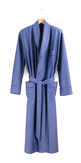 Bonsoir Dressing Gown - Finesse Indigo