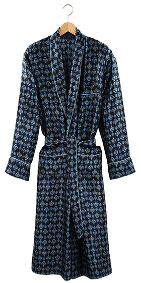 Bonsoir Men's Silk Dressing Gown - Wooster