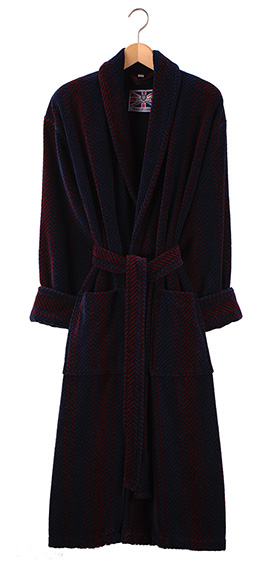 Bown Dressing Gown - Arbroath Velours Stripe - Sale Sizes