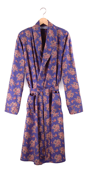 Bown Gatsby Men's Dressing Gown - Blue Paisley
