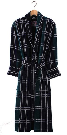 Bown Dressing Gown - Perth Velours Check