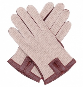 Leather & Cotton Crochet Men's Driving Gloves