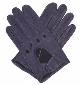 Dents Deerskin Driving Gloves- Navy Blue