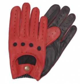 Black & Berry Two Tone Driving Gloves