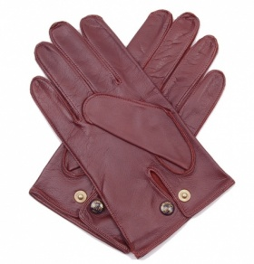 Men's Wool Lined English Tan Leather Gloves