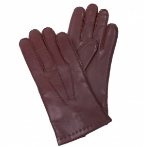 Men's Cashmere Lined Brown Nappa Gloves