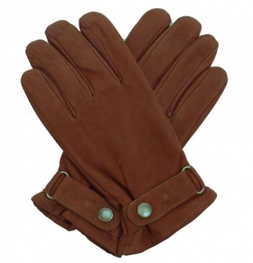 Men's Fleece Lined Cognac Rancher's Gloves