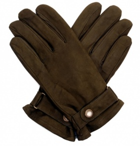 Men's Olive Nubuck Rancher Style Gloves