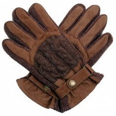 Men's Knit & Leather Casual Gloves