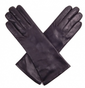 Dents Ladies Cashmere Lined Black Leather Gloves