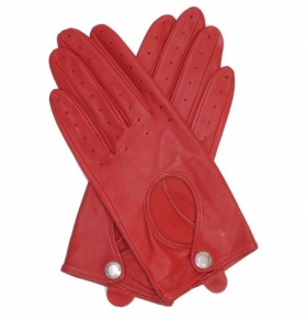 Ladies Red Driving Gloves
