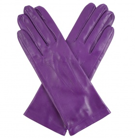 Dents Ladies Silk Lined Leather Gloves - Amethyst