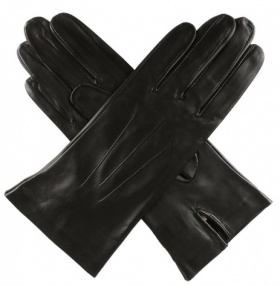 Dents Ladies Unlined Short Leather Gloves - Black