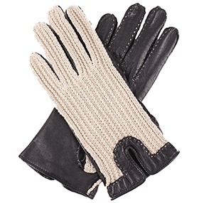 Dents Ladies Driving Gloves - String Back - Black