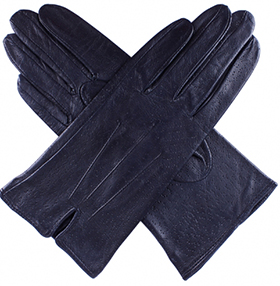 Dents Ladies Unlined Leather Gloves - Navy Imipec
