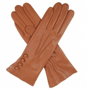 Dents Rose Silk Lined Saddle Leather Gloves