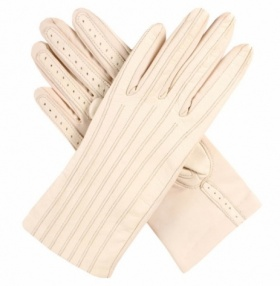 Dents Olivia Ladies Stretch Leather Gloves - Parchment