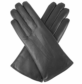 Dents Ripley - Ladies Fur-lined Leather Gloves - Black