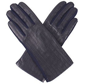 Dents Olivia Ladies Stretch Leather Gloves - Navy