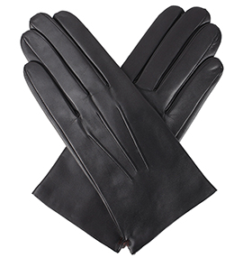 Dents Men's Leather Gloves - Bath - Black