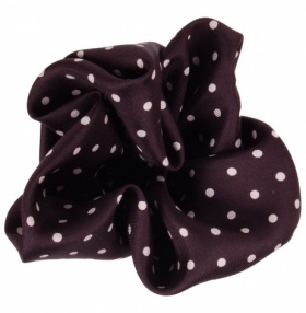 Black and White Polka-dot Silk Handkerchief