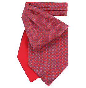 Fort & Stone Silk Cravat - Red Micro Paisley