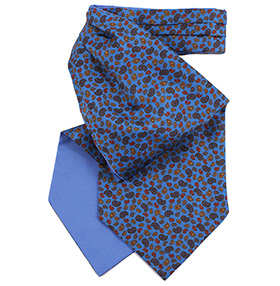Fort & Stone Silk Cravat - Blue Mini Paisley