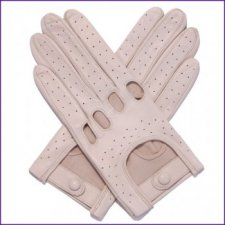 Ladies Almond Leather Driving Gloves