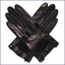 Ladies Black Leather Driving Gloves